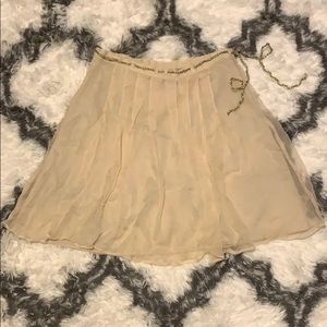 Pleated Skirt with Gold String Belt